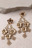 Garden Dreams Gold Earrings 3