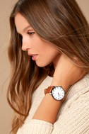 Generations Gunmetal and Brown Watch 5