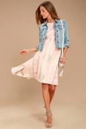 O'Neill Uli Blush Pink Print Midi Dress 2