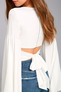 Lover's Light White Bell Sleeve Crop Top 5