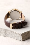 Around the World Gold and Brown Watch 4