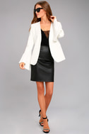 Night Visions White Cropped Blazer 2