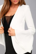 Night Visions White Cropped Blazer 4