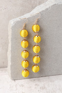 Sun Drops Yellow Earrings 1