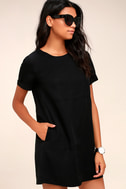 Fine Finesse Washed Black Shift Dress 2