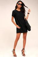 Fine Finesse Washed Black Shift Dress 1