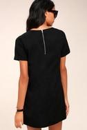 Fine Finesse Washed Black Shift Dress 4