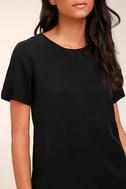 Fine Finesse Washed Black Shift Dress 5