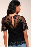 Sweet Escape Sheer Black Lace Top 3