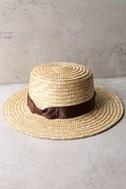 Rhythm Coast Brown and Beige Straw Hat 3
