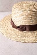 Rhythm Coast Brown and Beige Straw Hat 4