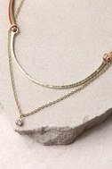 Dionysus Brown and Gold Layered Choker Necklace 2
