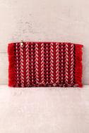 Feel it Still Red Woven Clutch 2