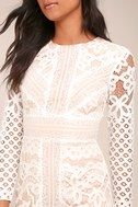 Keepsake Bridges White Lace Long Sleeve Midi Dress 4