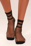 Solemates Sheer Black Socks 2