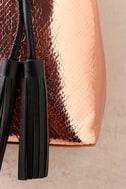 Top-Notch Rose Gold Snake Print Bucket Bag 3