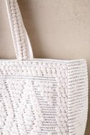 Cadence Silver and Ivory Woven Tote 3