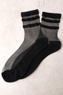 Sole-Mates Sheer Black Socks 3