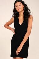 New York Move Black Sleeveless Sweater Dress 2