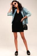 New York Move Black Sleeveless Sweater Dress 1