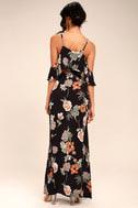 Sweet Scene Black Floral Print Maxi Dress 3