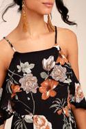 Sweet Scene Black Floral Print Maxi Dress 4