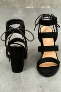 Sydney Black Suede High Heel Sandals 3