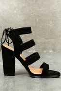 Sydney Black Suede High Heel Sandals 2