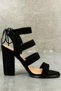 Sydney Black Suede High Heel Sandals 2