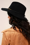 San Diego Hat Co. Marjorie Black Fedora Hat 5