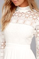 In Dreams White Long Sleeve Lace Maxi Dress 5