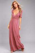 Tricks of the Trade Rusty Rose Maxi Dress 5