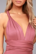 Tricks of the Trade Rusty Rose Maxi Dress 3