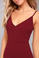 Infinite Glory Wine Red Maxi Dress 4