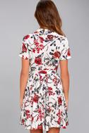 Just Fleur You White Floral Print Shirt Dress 3
