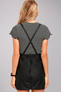Jack by BB Dakota Robison Black Vegan Leather Pinafore Dress 4