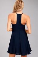 Glamorous Grace Navy Blue Skater Dress 3