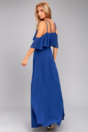 Earthly Desire Royal Blue Maxi Dress 3
