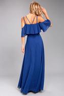 Earthly Desire Royal Blue Maxi Dress 4