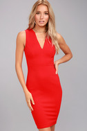 Quite Spectacular Red Bodycon Dress 1