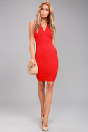 Quite Spectacular Red Bodycon Dress 2