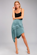 The Fifth Label Cue the Beats Slate Blue Asymmetrical Skirt 1