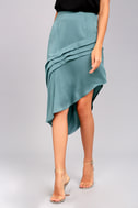 The Fifth Label Cue the Beats Slate Blue Asymmetrical Skirt 2