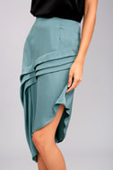 The Fifth Label Cue the Beats Slate Blue Asymmetrical Skirt 3