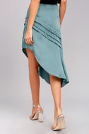 The Fifth Label Cue the Beats Slate Blue Asymmetrical Skirt 4
