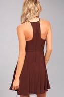 Glamorous Grace Burgundy Skater Dress 4