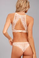 Love Lottery Peach Lace Bra and Panty Set 4