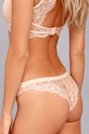 Love Lottery Peach Lace Bra and Panty Set 6