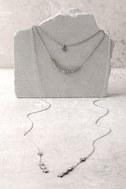 Bright Night Silver Layered Necklace 3