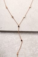 Brilliant Spark Rose Gold Drop Necklace 1